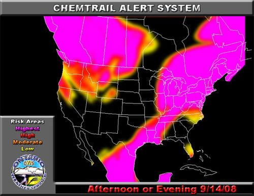 Chemtrail Alert for September 14, 2008