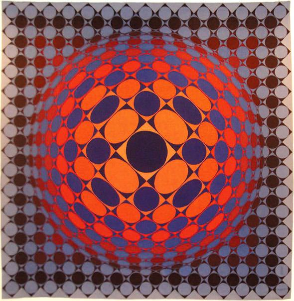 What is real, what is not? This carpet by Victor Vasarely (1906-1997), exposed in his native town of Pécs, Hungary, is flat.