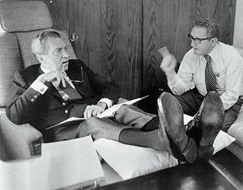 Richard Nixon and Henry Kissinger, July 3rd, 1973. PhotoBettmann/Corbis.