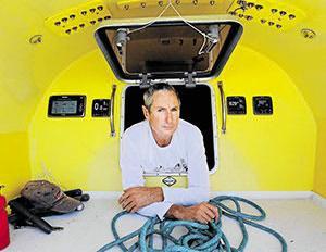 Ivan Macfadyen aboard the Funnel Web.
