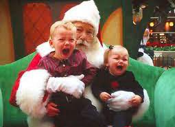 Could it be why some children are afraid of Santa Claus?