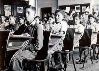 Residential school class.