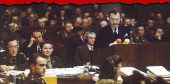 Above: Chief American prosecutor Justice Robert Jackson delivers the opening speech of the American prosecution at the International Military Tribunal trial of alleged war criminals at Nuremberg, Nov 20, 1945 to Oct. 1, 1946. Without brutal torture of many of the defendants, the German officers and civilians accused of capital offenses might have gotten off on many of the charges. Even U.S. Adm. Chester W. Nimitz submitted a written statement in support of at least one of the defendants, his letter stating that the Germans did no more than the Allies.