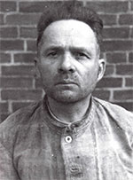 "WOULD HAVE ADMITTED TO ANYTHING. Rudolf Hoess, shown above in his Nuremberg prison uniform, was the victim of vicious torture for days and nights upon end. By the time his ""confession"" was presented to the court, he admitted he would have confessed to anything to get the unending torture to stop."